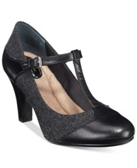 Giani Bernini Vineza Memory Foam Mary Jane Pumps Women's Shoes Black Grey