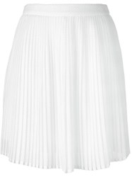 Kenzo Pleated Lace Skirt White