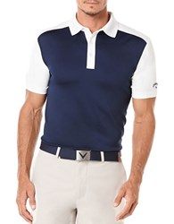 Callaway Golf Performance Color Block Short Sleeved Polo Shirt Blue