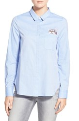 Women's Paul And Joe Sister Embroidered Cotton Poplin Shirt