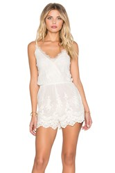 Band Of Gypsies Lace Romper Ivory