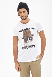 Forever 21 Grumpy Cat Graphic Tee