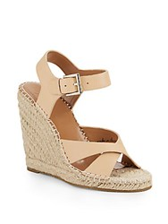 Joie Lena Leather Espadrilles Nude