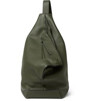 Loewe Anton Full Grain Leather Backpack Army Green