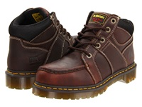Dr. Martens Work Darby St 5 Eye Moc Toe Boot Teak Industrial Bear Men's Work Lace Up Boots Brown
