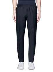 Acne Studios 'Ryder' Stretch Waist Wool Mohair Pants Black