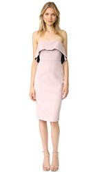 Bcbgmaxazria Strapless Ruffle Dress Tea Rose