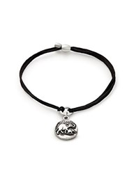 Alex And Ani Elephant Charm Cord Bracelet Black Silver