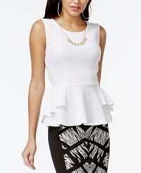 Thalia Sodi Textured Peplum Necklace Top Only At Macy's