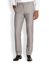 Armani Collezioni Virgin Wool Trousers White Smoke