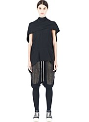Rick Owens Caped Tunic Top Black