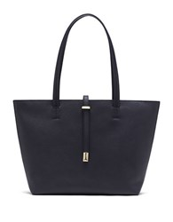 Vince Camuto Leila Small Leather Tote Peacoat