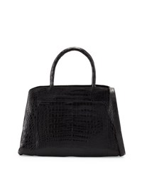 Nancy Gonzalez Large New Work Crocodile Tote Bag Black Matte