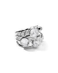 Ippolita Sterling Silver Rock Candy Constellation Ring In Clear Quartz