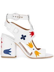 Laurence Dacade 'Nation Shiny' Sandals White