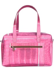 Luisa Cevese Riedizioni Printed Structured Tote Pink And Purple
