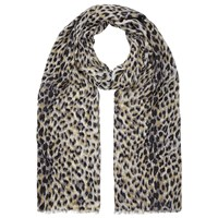 John Lewis Brushed Animal Print Scarf Black Multi