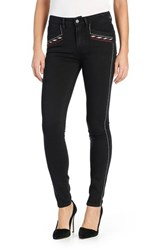 Paige Women's 'Transcend Amberly' High Rise Embroidered Ultra Skinny Jeans