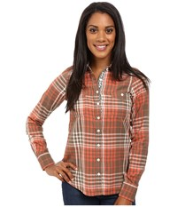 Aventura Clothing Maya Long Sleeve Shirt Walnut Chili Women's Long Sleeve Button Up Brown