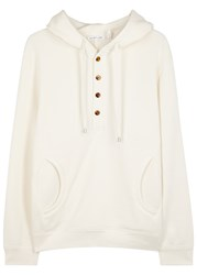 Helmut Lang Ivory Buttoned Cotton Sweatshirt
