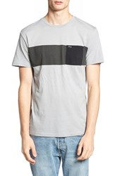 Rvca Men's 'Three O'clock' Pocket Crewneck T Shirt