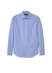 Mango Slim Fit End On End Shirt Blue