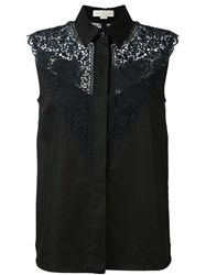 Stella Mccartney Lace Detail Sleeveless Shirt Black