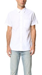 Baldwin Denim Miles Short Sleeve Shirt White Sand