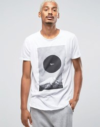 Pull And Bear Pullandbear Longline T Shirt In White With Japan Print White