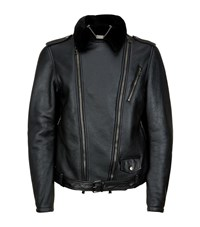 Billionaire Leather Sheepskin Biker Jacket Male