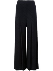 See By Chloe Polka Dot Flared Chiffon Trousers Black