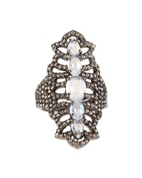 Bavna Diamond Pave Moonstone Cocktail Ring Women's