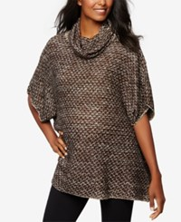 A Pea In The Pod Maternity Cowl Neck Tweed Sweater Black Gold