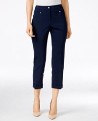 Styleandco. Style Co. Mid Rise Cropped Pants Only At Macy's Industrial Blue