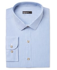 Bar Iii Men's Slim Fit Hairline Striped Dress Shirt Only At Macy's Blue