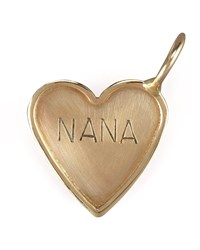Nana Heart Charm Heather Moore Gold