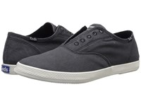 Keds Champion Chillax Washed Twill Black Men's Slip On Shoes
