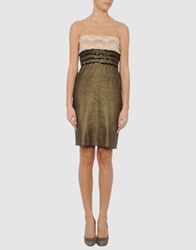 Jean Colonna Short Dresses Bronze