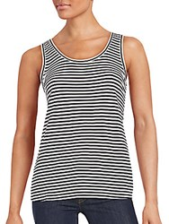 Max Mara Striped Tank Top Black