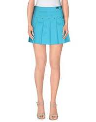 Versace Jeans Couture Skirts Mini Skirts Women Turquoise