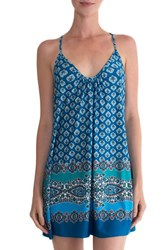 In Bloom By Jonquil Women's Crochet Racerback Print Chemise