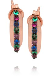 Katie Rowland Carmilla Rose Gold Plated Crystal Earrings