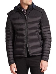 Burberry Farrier Puffer Jacket Berry Red Black