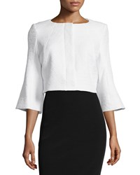 Zac Zac Posen Susanna Bell Sleeve Cropped Jacket White Women's Size 10