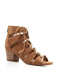 Lucky Brand Genevie Caged Lace Up Sandals Compare At 119 Brown