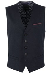 Ted Baker Cabwai Suit Waistcoat Navy Dark Blue