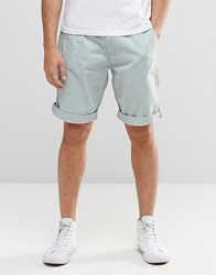 Esprit Chino Shorts With Faux Leather Belt Pastel Blue