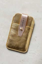 Anthropologie Metallic Iphone Sleeve Gold