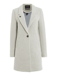 Maison Scotch Bonded Wool Coat Grey