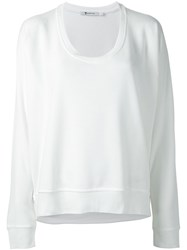Alexander Wang T By Loose Style Sweatshirt White
